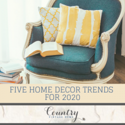 Five Home Decor Trends for 2020