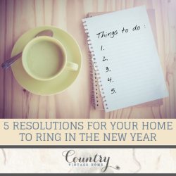 5 Resolutions for Your Home to Ring in the New Year