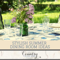 Stylish Summer Dining Room Ideas