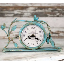 Distressed Country Style Songbird Mantle Clock