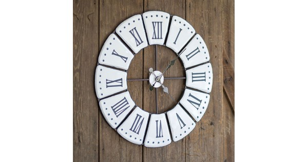 Roman Numeral Wall Clock Country Vintage Home