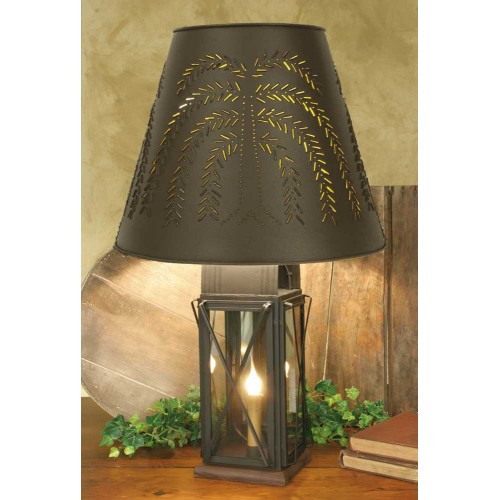 Large Milk House 4-Way Farmhouse Lamp with Metal Willow Shade