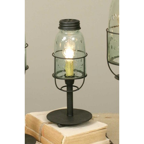 Short Mason Jar Farmhouse Lamp