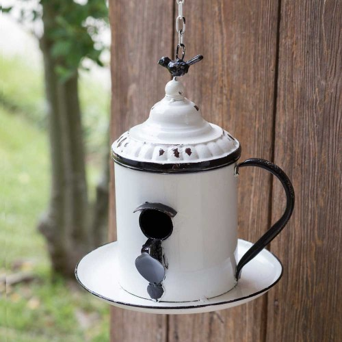 Vintage Coffee Break Bird house