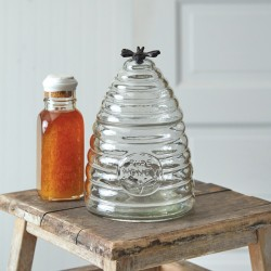 Medium Honey Hive Glass Canister