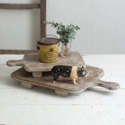 Set of Two Wood Cutting Board Risers