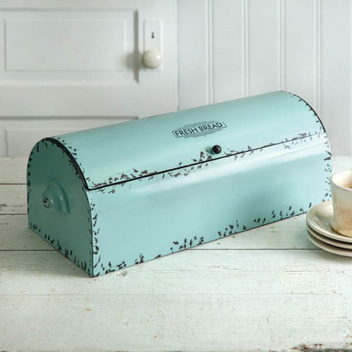 Vintage Bread Box - Seafoam