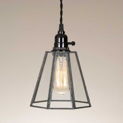 Clear Glass Bell Farmhouse Pendant Light