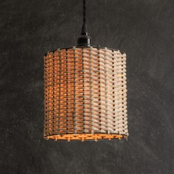 Rattan Drum Pendant Lamp