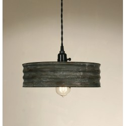 Rustic Metal Sifter Pendant Light  - Textured Grey