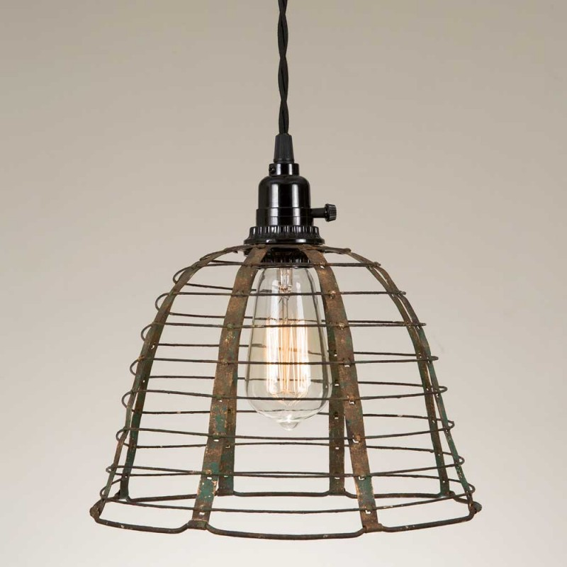 Rustic Wire Pendant Lamp Countryvintagehome Com