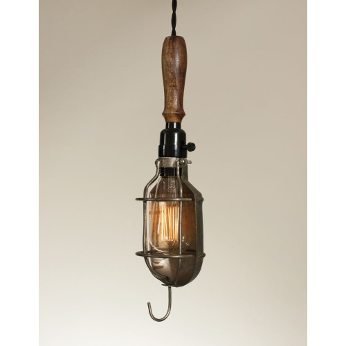 Vintage Style Trouble Light with Reflector Pendant Light