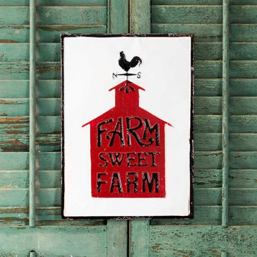 Farm Sweet Farm Metal Wall Sign