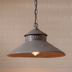 Shopkeeper Shade Light with Reg Star in Kettle Black