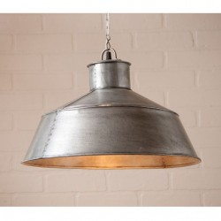 Springhouse Metal Pendant Light in Brushed Tin