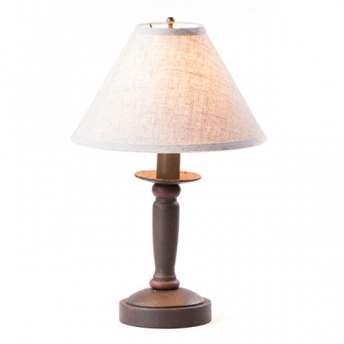 Butcher Primitive Table Lamp in Americana Espresso with Linen Ivory Shade