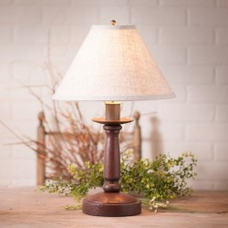 Butcher Primitive Table Lamp in Americana Red with Linen Ivory Shade