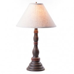 Davenport Lamp in Americana Espresso with Linen Ivory Shade