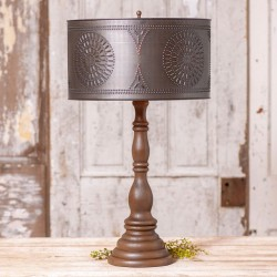 Davenport Lamp in Rustic Brown with Shade