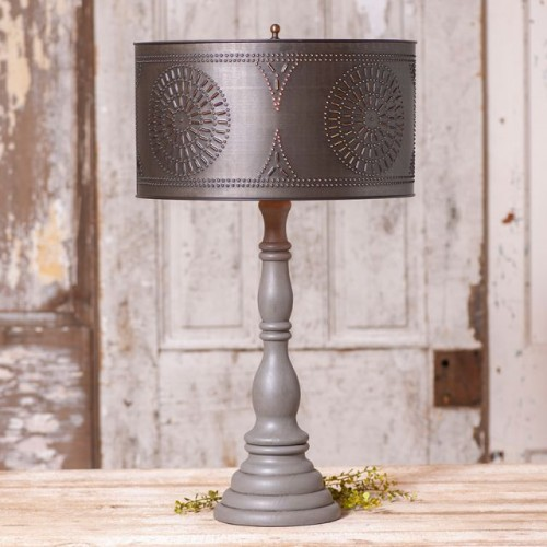 Davenport Lamp in Earl Gray with Shade