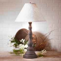 Davenport Lamp in Hartford Black with Linen Ivory Shade
