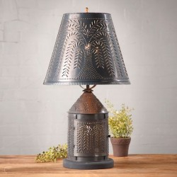 Fireside Lamp with Willow Shade in Kettle Black