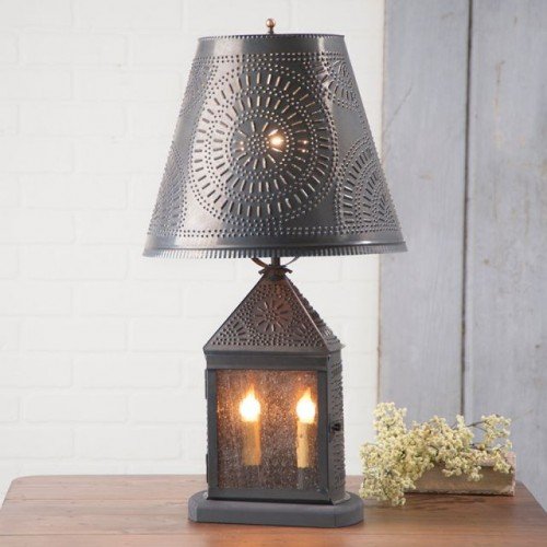 Harbor Lamp with Chisel Shade in Kettle Black