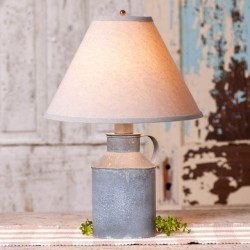 Jug Lamp with Ivory Linen Shade