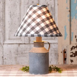 Jug Lamp with Gray Check Shade