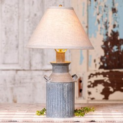 Milk Jug Lamp with Ivory Linen Shade