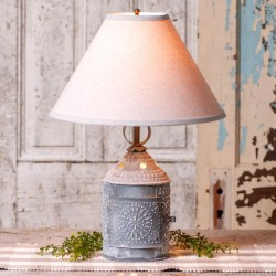 Paul Revere Lamp with Ivory Linen Shade