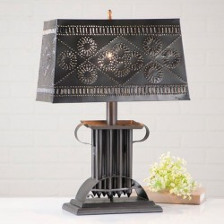 Rectangular Candle Mold Lamp with Shade