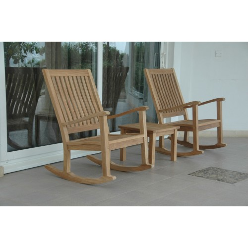 Del-Amo Bahama 3-Pieces Set with Square Side Table