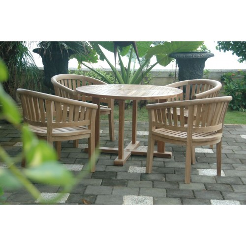 Tosca 5-Pieces Dining Table Set