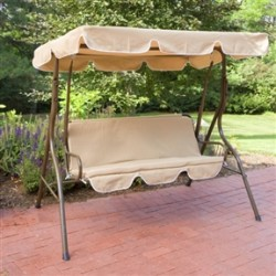 2-Person Canopy Swing Loveseat Outdoor Porch Patio Chair Furniture
