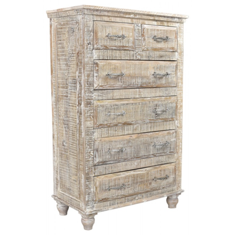 Jeane Distressed 6 Drawer Tall Chest Countryvintagehome Com