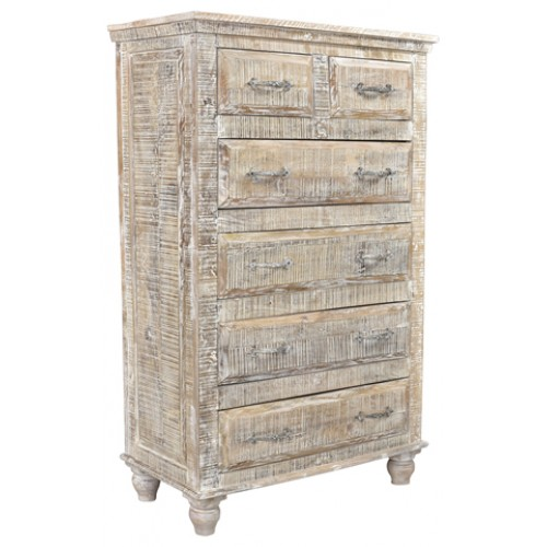 Jeane Distressed 6 Drawer Tall Chest