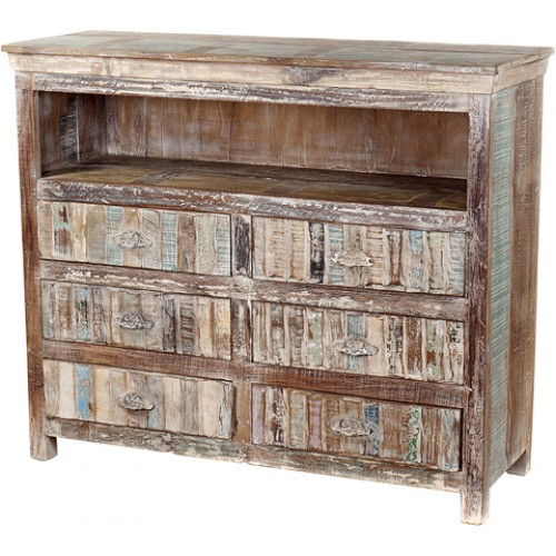 Lynn 6 Drawer Farmhouse Media Chest
