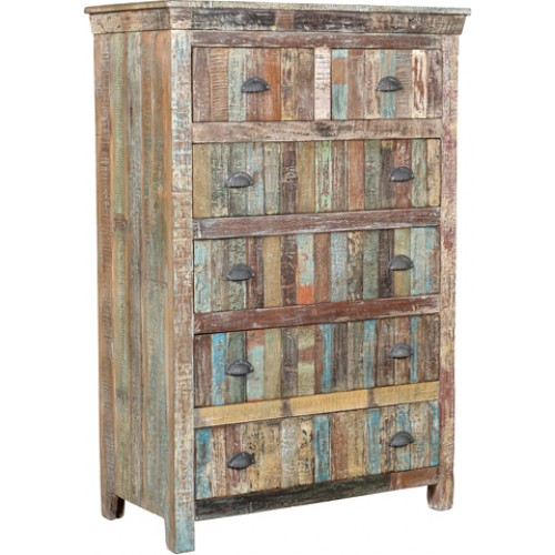 Lynn Distressed 6 Drawer Tall Chest