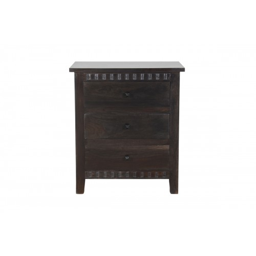 Woods 3 Drawer Farmhouse Nightstand