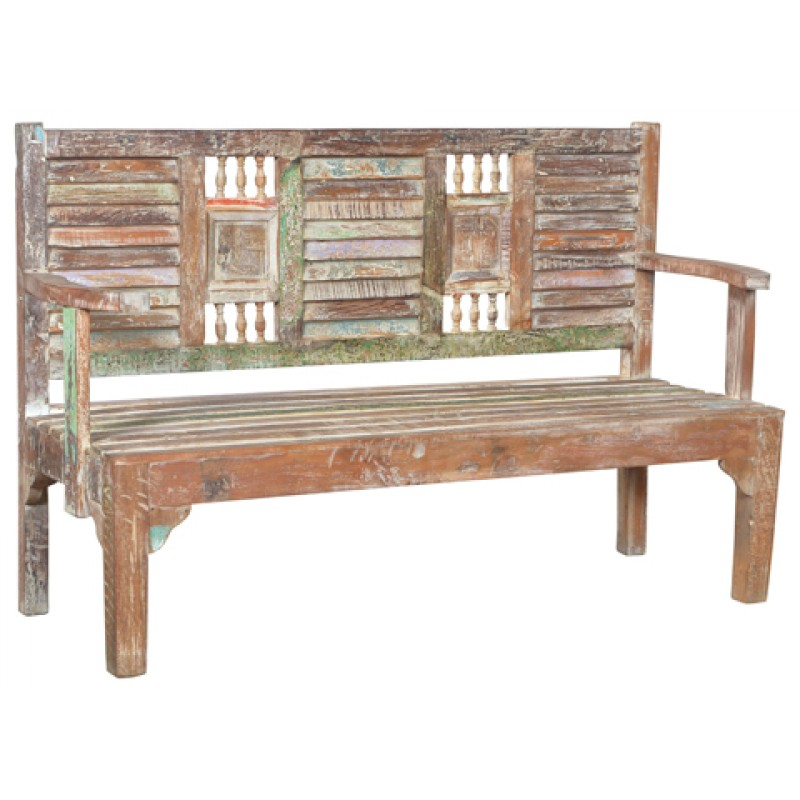 Lime Washed Farmhouse Tables And Benches Bespoke Sizes: Lynn Farmhouse Bench - Antique White Wash Finish