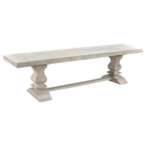 "Rockwell Pedestal Dining Bench 72"" - Antique White"