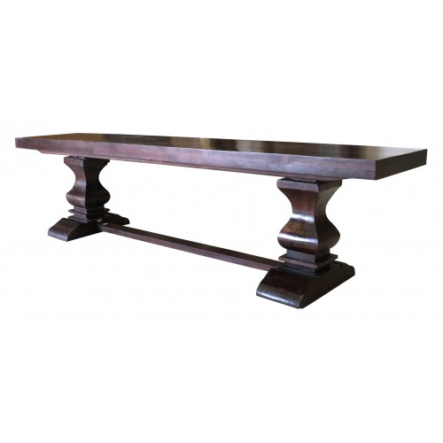 "Rockwell Pedestal Dining Bench 80""- Brown"