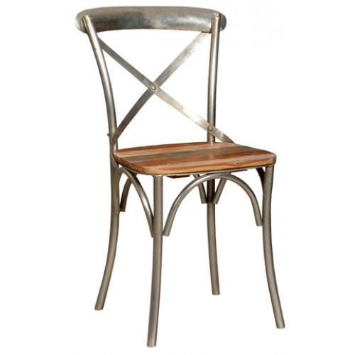Adamsville Metal Farmhouse Side Chair