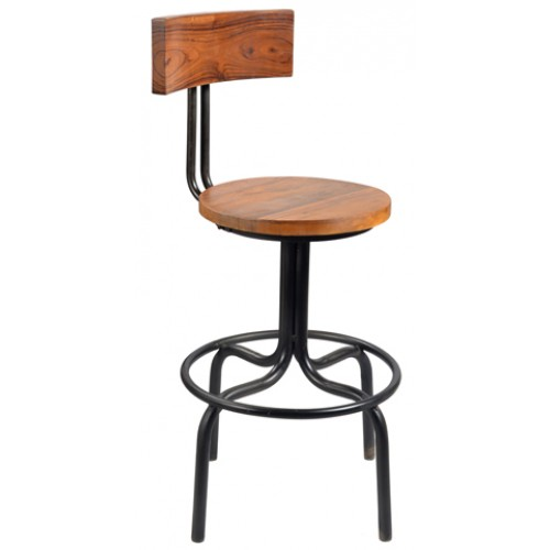 Holliday Wood Back Counter Chair