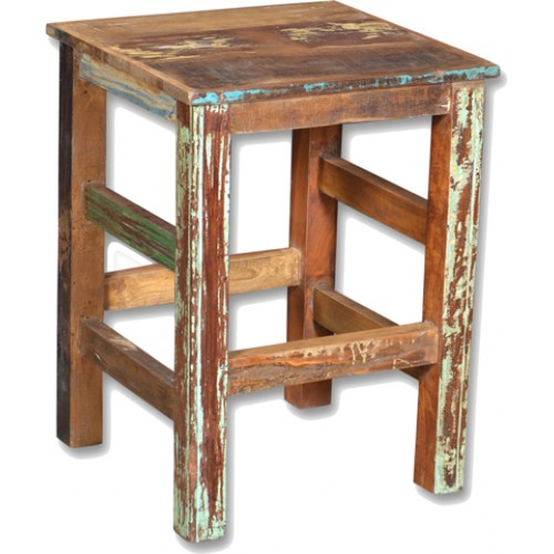 Loraine Distressed Recycled Wood Counter Stool - Natural