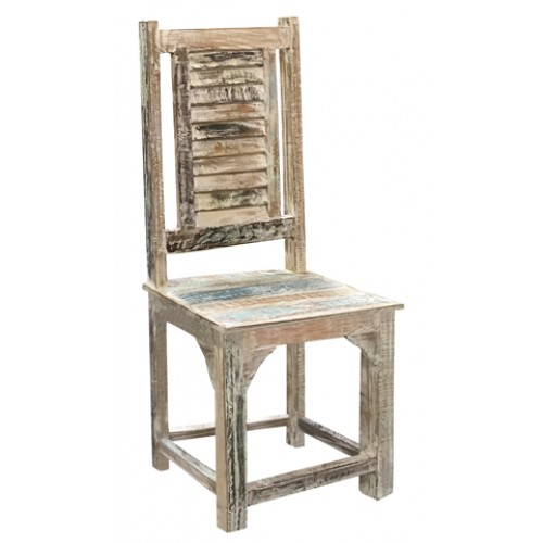 Lynn Rustic Side Chair Shutter Back