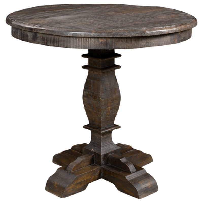 Jeane distressed round pub table brown countryvintagehome jeane distressed round pub table brown watchthetrailerfo