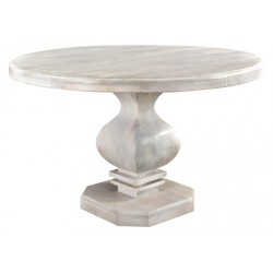 "Rockwell Pedestal Round Dining Table 48"" - Antique White"