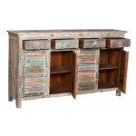 Lynn 4 Drawer 4 Shutter Door Wood Sideboard